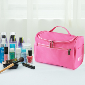 Large capacity portable cosmetic bag travel wash bag