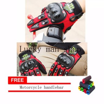 lazada and USA best selling colour RED AS SEEN ON TV Motorcycle Gloves Touring & Racing Black With Motorcycle handlebar sleeve