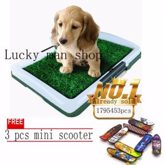 lazada and USA best selling free 3 pcs mini scooter Puppy Potty Padindoor dog toilet Training Tray 3Tier