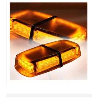 LC 12v Amber LED Strobe Emergency Lamp Recovery Flashing Light -intl