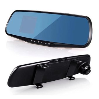 LCD Rear View Mirror Car DVR Camera Recorder (Black) - intl