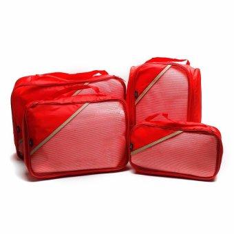 Le Organize 4-in-1 Luggage Organizer (Red)