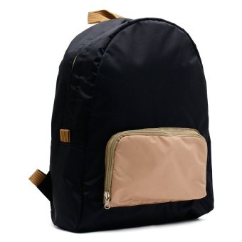 Le Organize Jammies Foldable Backpack (Black/Khaki) - picture 2