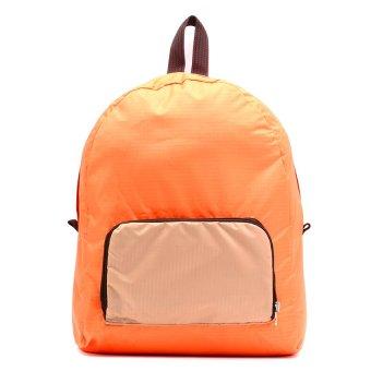 Le Organize Jammies Foldable Backpack (Orange/Khaki)