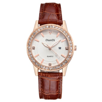 Leather Belt full of crystals rose gold female fashion watch Fashion watch