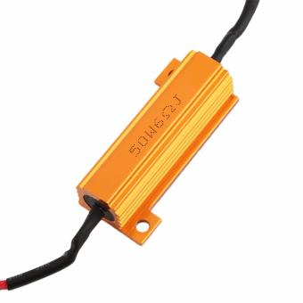 LED Load Resistor Warning Decoder 5W-50W With Two Clips For 12V Cars - 2