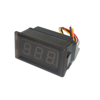 LED Voltmeter Digital Volt Meter Gauge Waterproof Blue 0-300V