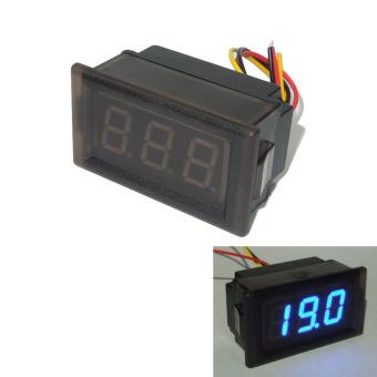 LED Voltmeter Digital Volt Meter Gauge Waterproof Blue 0-300V - picture 2