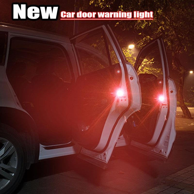 ... Leifen 2Pcs Car Door Safety Warning Light Wireless LED Flashing Lights  Anti Collision Lights Door ...