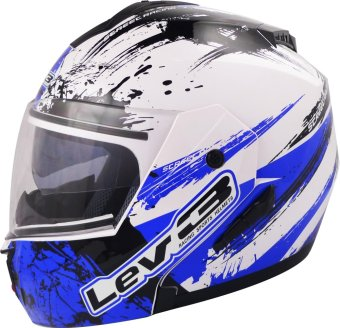 Lev3(R) Modular BJ-5700 Ninja Motorcycle Helmet (White/Blue) Price Philippines