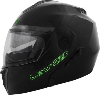 Lev3(R) Modular BJ-5700 Plain Motorcycle Helmet (Black) Price Philippines