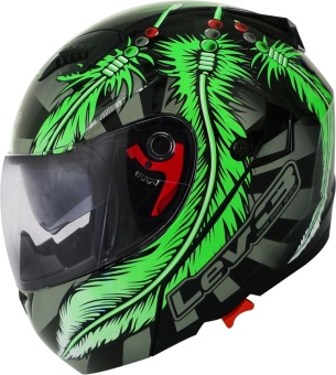Lev3(R) Modular BJ-5710 Dream Motorcycle Helmet (Black/Green/Gray) Price Philippines