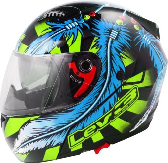 Lev3(R) Modular BJ-5710 Dream Motorcycle Helmet (Black/Lime/Blue) Price Philippines