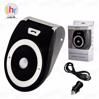 LHR-Wireless Bluetooth Car Kit Bass Stereo Speaker (Black)