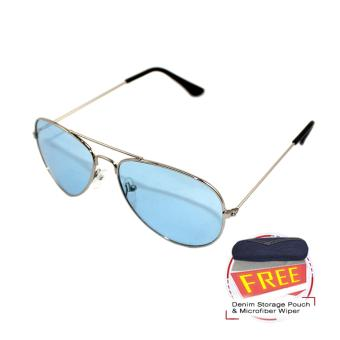 Light Lens Trendy Anti-Reflective Sunglasses - Blue Price Philippines