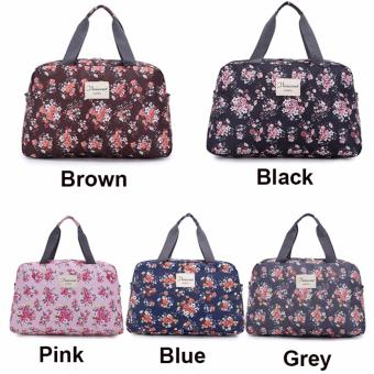 Light Weight Floral Carry OnTravel Duffle Bag Luggage Handbag (Medium) - intl - 2