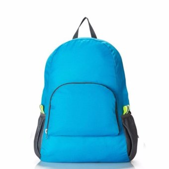 Lightweight Nylon Travel Backpack Waterproof Soft Foldable Bag(blue)