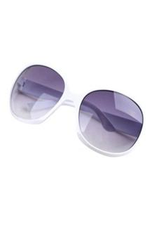 Linemart Retro Oversized Women Sunglasses (White)