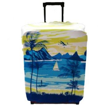 LITTLE CHILI KINGDOM Hawaiian Lagoon Luggage Protector - SMALL