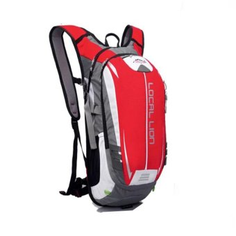 Local Lion Outdoor Cycling Travelling Backpack (Red/Grey)