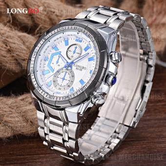 LONGBO-80135 Men's Quartz Shockproof Waterproof Hub Wristwatch(white)