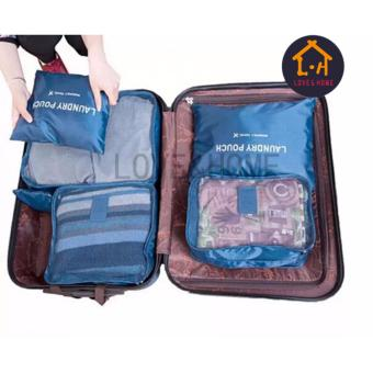 LOVE&HOME 6 in 1 Secret Pouch Travel Organizer Set (DarkBlue,Pink) Set Of 2 - 4