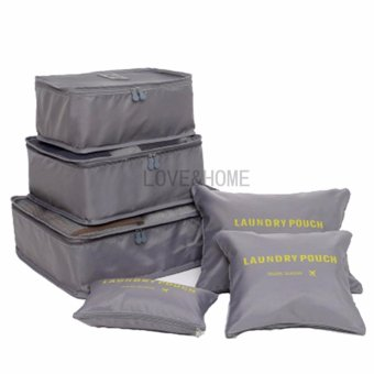 LOVE&HOME 6 in 1 Secret Pouch Travel Organizer Set (Gray)
