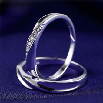 LOVE&HOME Genuine 925 Sterling Silver Classic Lover Couple Ring