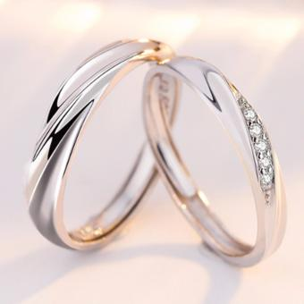 LOVE&HOME JZ-03 Classic Lover Couple Ring (Silver)