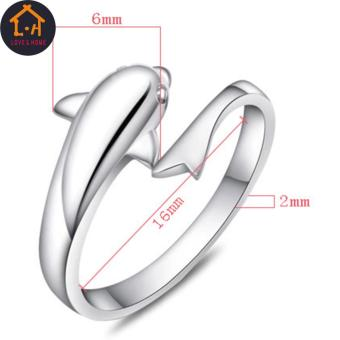 LOVE&HOME Silver Forever Dolphin Opening Adjustable Rings - 4