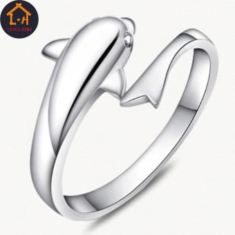 LOVE&HOME Silver Forever Dolphin Opening Adjustable Rings - 5