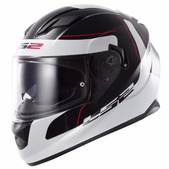 LS2 Full-Face FF320 Lunar Helmet (Black/White)