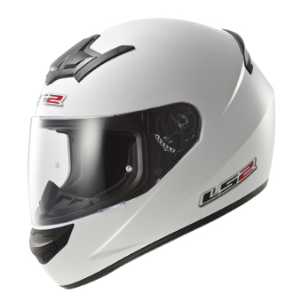 LS2 Full Face FF352 Rookie Mono Helmet (White)