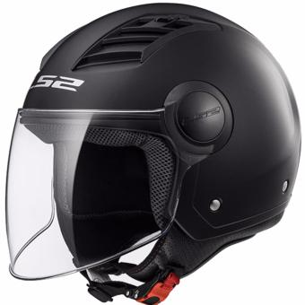 LS2 OF562 Airflow Mono Long Jet Helmet (Matte Black)
