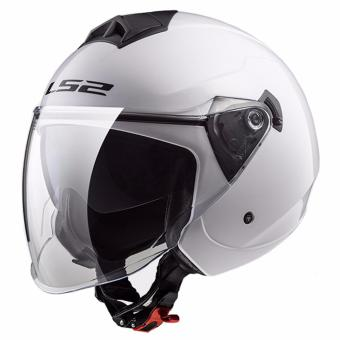 LS2 OF573 Twister Mono Jet Helmet (White)