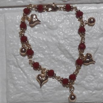 Lucky Charm Bracelet for Love Stainless Steel (red) - 2