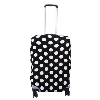 Luggage Elastic Dust-proof Protective Cover(Black White DotsXL26-28) - intl