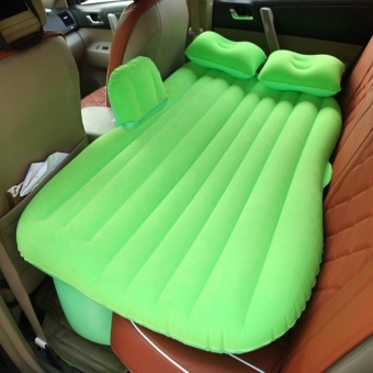 LUOWAN Car auto Travel mattress for adults kids Car Mobile Bedroom Inflatable bed Outdoor Camping Universal SUV 135 X 40 X 82CM (Green with baffle) - intl