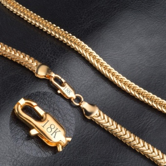 Luxury Men 6MM Snake Gold Necklace Luxury Hip Hop Chain JewelryGift for Boys 20inch - intl
