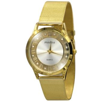 Madisa Stella Unisex Analog Stainless Steel Wrist Watch (Gold) Price Philippines
