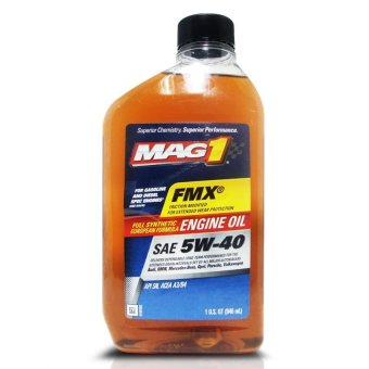 MAG 1 5W40 European Formula API SN ACEA A3/B4 Full Synthetic Oil for Gasoline and Diesel Engines 1qt (946ml) PN#62836