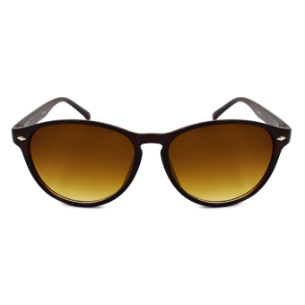 Maldives 104 Annie Cool Rounded Notch Bridge Sunglasses (GradientBrown/Brown) Price Philippines