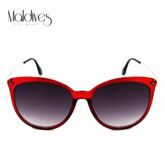Maldives 2010-Y Buna Women's Fashion Rounded Cat Eye Style Sunglasses (Gradient/Red)