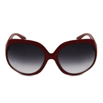 Maldives 7161-Y Ruffa Women's Summer Sunglasses (Gradient Black/Garnet)