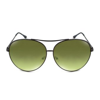Maldives A17-Y Allison Oversized Aviator Textured Arm Design Sunglasses (Gradient Black Green/Gunmetal Black)