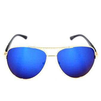 Maldives CY5700 Unisex Cyrus Sunglasses (Blue/Gold)