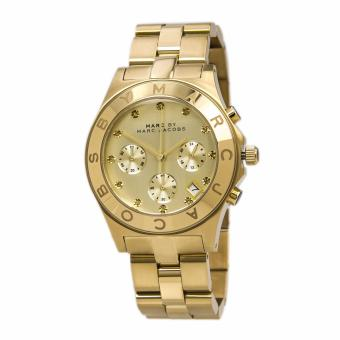 Marc by Marc Jacobs Blade Chronograph Gold Dial Gold-Tone Stainless Steel Women's Watch-MBM3101