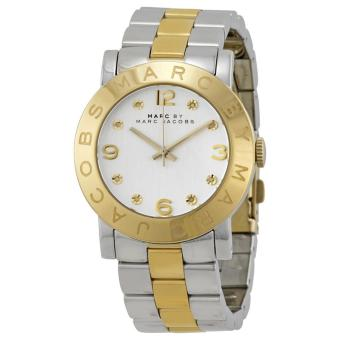 Marc Jacobs Amy Golden Two-Tone Glitz Watch