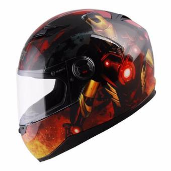 Marvel Full Face Helmet FF1 Avengers Ironman (Red/Gold) - 5
