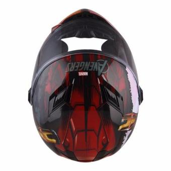 Marvel Full Face Helmet FF1 Avengers Ironman (Red/Gold) - 4